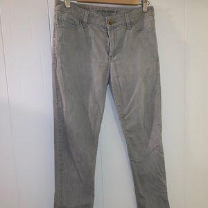 Gray wash, skinny fit denim